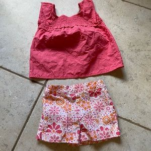 healthtex Matching Sets - VGUC Healthtex Smocked Top Shorts Outfit